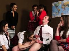 femdom cfnm teacher humiliate man in class