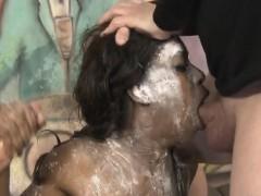 Powdered Black Ghetto Slut Simone Styles Rough Face Fucking