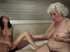 Chubby Old Lady Orally Licked By Babe