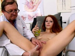 redhead-doctor-gaping-and-cumshot