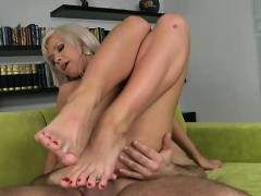 russian pornstar foot and backdoor cumshot