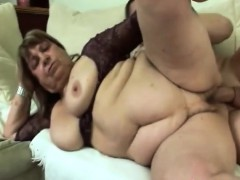 hot granny getting penetrated hard by younger stud