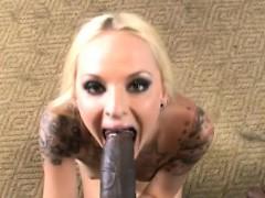 Faye Runaway Gets Mouth Filled By Black Boner