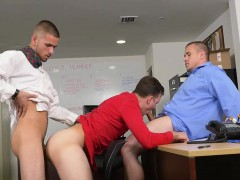 Cute Intern Gets His Asshole Destroyed By A Big Fat Dick