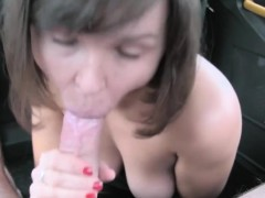 hot amateur brunette banged by nasty driver for free