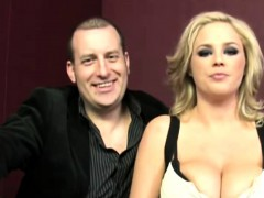 Katie Kox blowing black cock in front of hisband