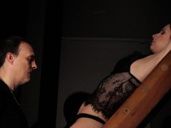 bdsm hardcore spanking sex slave swallows jizz bondage