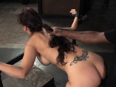 busty milf whore restrained and penetrated
