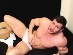 muscle-lad-unboxing-white-sneakers-and-going-for-it