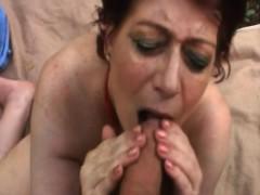Chubby Granny Tamara Sucking Long Cock In Woods
