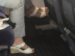German Candid Shoe Dangle In Train Wava From Dates25com