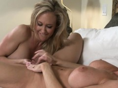 two massive boobs milfs satisfying pussies in the bedroom