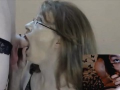 Double View Of A Hot Tranny Pov Blowjob