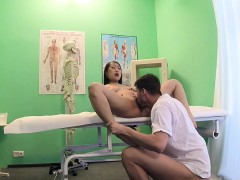 Natural Busty Asian Patient Bangs Doctor