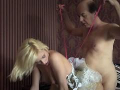 Young Princess Sex Doll Fucks Old Man Teen Blowjob Cum