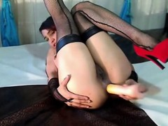 Big Booty Latina Enjoys A Hot Dildo Anal Play