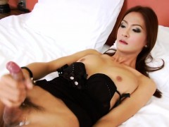 Hung Asian Tgirl Toon Pleases Herself
