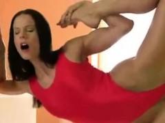 very-sexy-elastic-girl-fucks-wall-dildo
