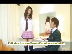risa-tsukino-asian-doll-in-waitress-uniform-enjoys-sucking