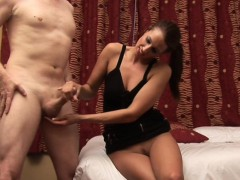 bossy-cfnm-girlfriend-tugging-hard-cock