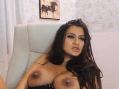 Hot Big Tits Babe Plays Her Pussy