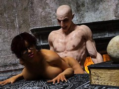 3d Busty Girl Ravaged By Evil Vampire!