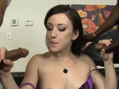 Pretty Hot Girl Dped By Massive Black Dudes On The Couch