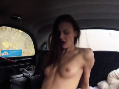 busty-with-strap-on-bangs-brunette-in-cab