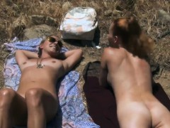 Two Smokin Hot Cougars Went On Nudist Trail For Tanning