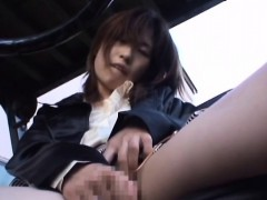 non-professional japanese worker filmed when making out