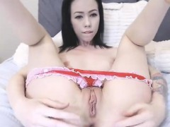 Hot Chick In Anal Solo Masturbation