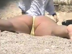 voyeur woman naked on public beach