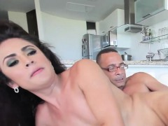 Heeled latina transsexual anally pounded