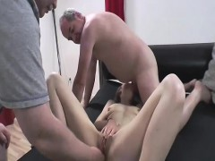 Two Old Perverts Fisting Skinny Teens Loose Pussy