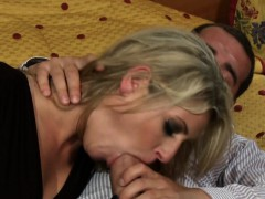 Blonde Kia Winston with silk gloves gets anal