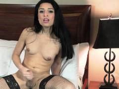 Solo Trans Goddess Toys Ass After Striptease