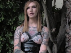 tattooed-tranny-wanking-off-outdoors