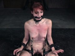Bonded Redhead Whipped After Eating Her Pubes