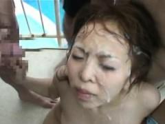 Asian Teen Bukkaked In Public!
