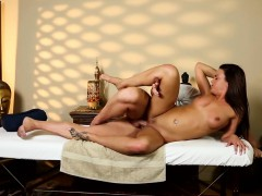 Massage Amateur Pounded By Masseur On Table
