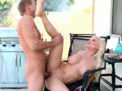 buxom stepmom diamond foxx bangs outdoor