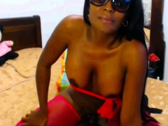 Black Wife With Huge Tits On Cam