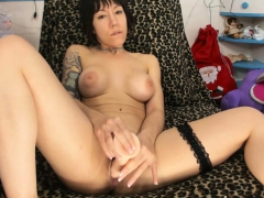 Hot Short haired Busty Masturbating Like Crazy