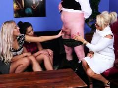 glamorous british femdoms tugging their sub WWW.ONSEXO.COM
