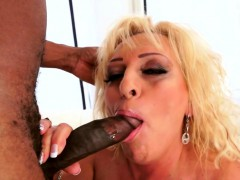 Busty Granny In Lingerie Fucked Interracially