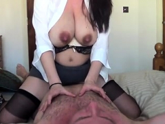 busty wife fucking and lactating