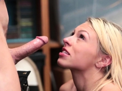 Blonde Teen Thief Suspected And Fucked By A Security Guy
