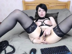 Pale Russain Goth Wife On Cam