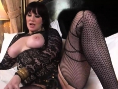 big titted bdsm slut torturing her slave