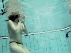 Girls Swimming Underwater And Enjoying Eachother